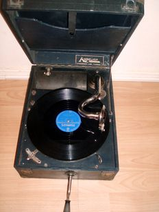 Old gramophone/record player Angelica Murdoch's