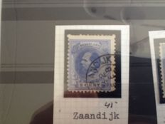 Netherlands - Batch of small round cancellations on 24 stock cards