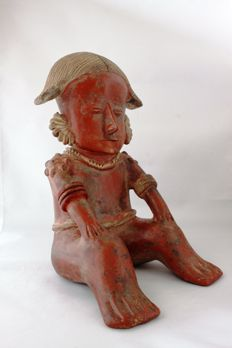 Pre-Columbian Anthropomorph figurine in eartenware - heighth 24 cm