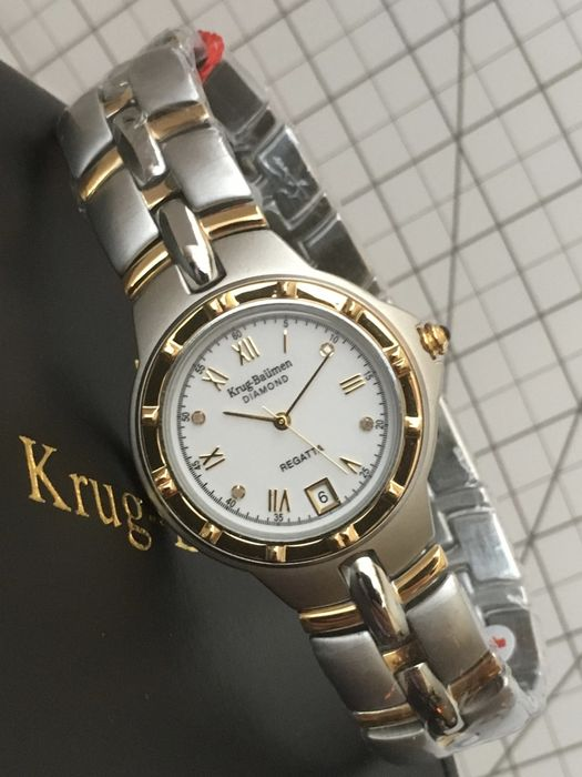 "Krug-Baumen ""Regatta 4 Diamonds"" – womens wristwatch – 2017 -- unworn, mint condition."