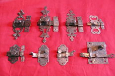 Locks in wrought  iron - France - end of the 18 th. / early 19th