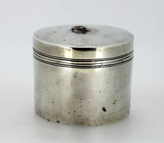 Antique Russian Solid Silver Tea Caddy, Made in St Petersburg 1788