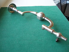 Antique brain drill / trepanning drill. Marked Con H.M.