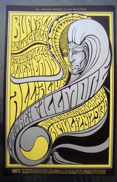 Buffalo Springfield / Steve Miller Band at the Fillmore San Francisco by Wes Wilson 1967