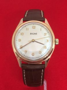 Baume Vintage 18k Solid Gold Men's Wristwatch