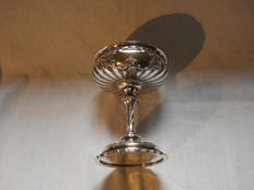 Silver coupe with vermeil on the base, France ca 1840