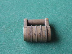 Rare brass letter combination padlock