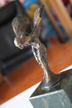Sculpture Rolls Royce - Spirit of Ecstasy - Flying Lady -Bronze Lady - 15.5 cm high