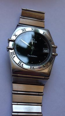 Men's watch Omega Constellation stainless steel 1990s