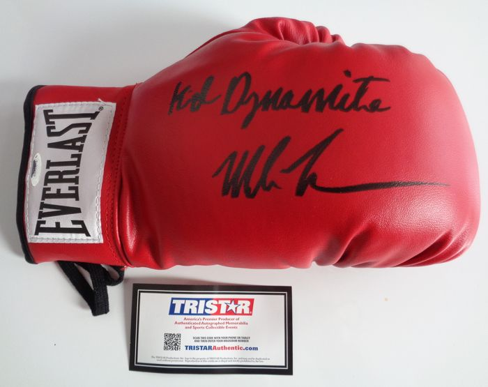 "Mike Tyson - Boxing Glove, signed and dedicated ""Kid Dynamite"" - COA/Tristar Hologram -"
