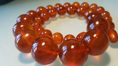 Antique Baltic amber necklace 1920-1935, 59 grams
