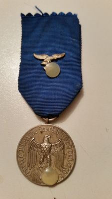 Medals:  Wehrmacht service award medal for 4 years with band eagle