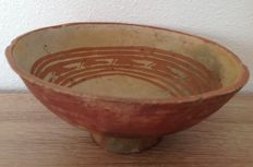 Pre-Columbian Cuasmal Carchi culture pottery bowl with stylized birds - Colombia - 19 cm