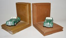 2 heavy Jaguar bookends