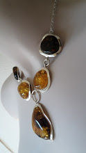 Silver 925 necklace with 100% Natural Baltic Amber dark cognac honey, cherry and other colours.