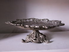 Metal Centrepiece from the Middle of the 20th Century with a Beautiful Image in Relief