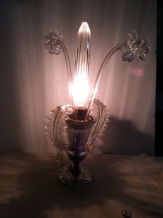 Murano glass table lamp - Venice, Italy - 1940s