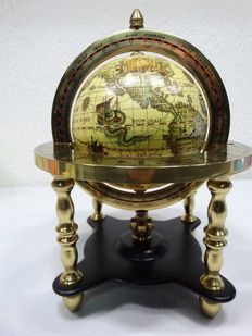 Beautiful brass table globe with constellations