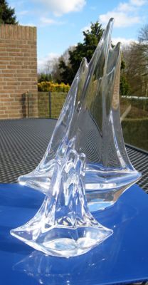 Daum (France) - Two Crystal Sailing boats