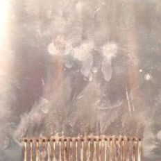 Bernard Aubertin - Fiammiferi Bruciati su Lamiera (Burnt matches on metal sheet)