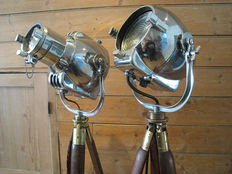 Strand Patt – Type 23 & Type 123 Vintage Theatre lamps with tripod (2 pieces)