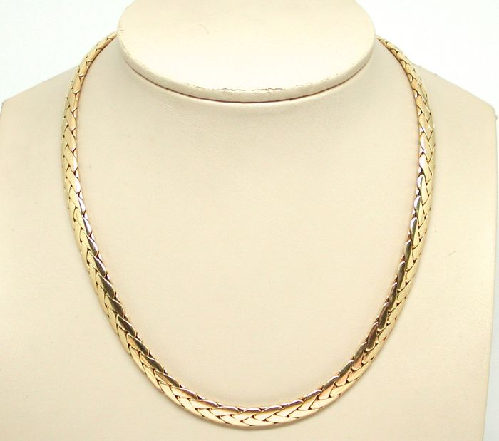 Cartier – Vintage 18k yellow gold fancy-link necklace - Length: 40,0cm