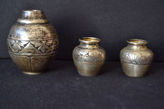 Set of silver jar´s - Portugal early 20th century