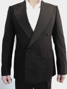 Gucci – luxury double-breasted black suit