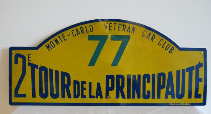 Race car sign from the 1960s