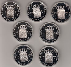 The Netherlands – Silver ducat 1994/2000 (7 different ones)