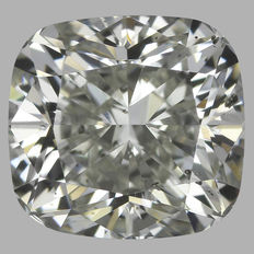 1.10ct Cushion Modified   Brilliant Diamond I SI1  IGI  -Original Image-10X - Serial# 1727