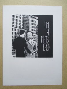 """Gôtting, Claude - Lithographie P.M.G. Editions """" Time remembered """" - (années '90)"""
