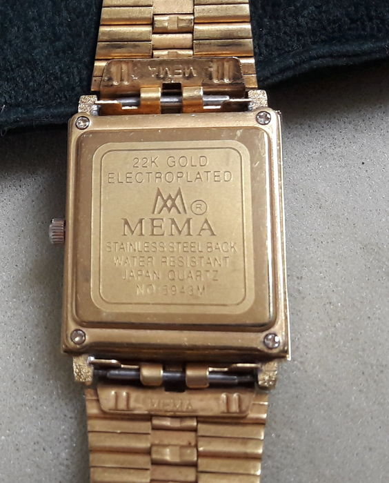 Elegant women's watch, 22 kt gold-plated, MEMA model 5943M