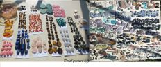 Unique collection of cabochons, nuggets & chips - Lapidary - Lapis, Amber, Tourmaline etc - 5 to 67mm - 3114gm  (1157)