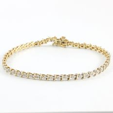 14kt  Yellow Gold Tennis Bracelet Set with 0.50 ct Diamonds