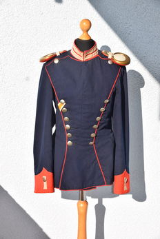 Ulanka / Uhlan uniform 1st Prussian guard Uhlan regiment with medal ribbon of the Prussian lifesaver medal