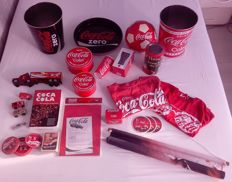 22 Coca Cola items (Banner, Tray, Trashcans, T-Shirts and more)
