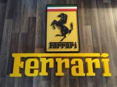 Ferrari dealer / workshop - 25x105 cm - end 20th century