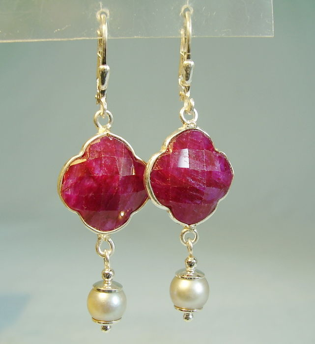 set clear in ruby products lea stud and quartz pyrite crushed natural earrings bracelet
