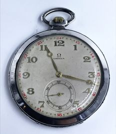 OMEGA pocket watch - Gold hour markers - Circa 1915.