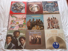 A Lot Of 9 Superb Funky, Soul Lps: Commodores, Funkadelic, Smokey Robinson & The Miracles, The Miracles, O'Jays, Temptations & War!