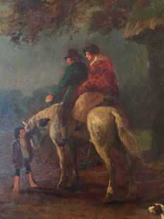 Manner of G. Morland (1763-1803) - The Travellers Charity