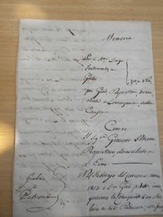 Manuscripts; Notary deed - 1815