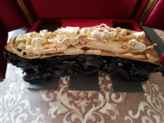 A Chinese sculpture in mammoth ivory - 43.5cm - China - circa 1950