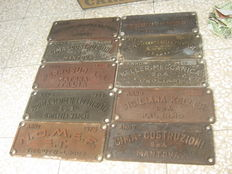 Dismantled train wagon number plates - between the 1960s and 1980s - Italy