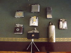 Lot of 9 petrol lighters (1940-60)