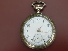 Pocket watch with a cylinder movement, from around 1900.