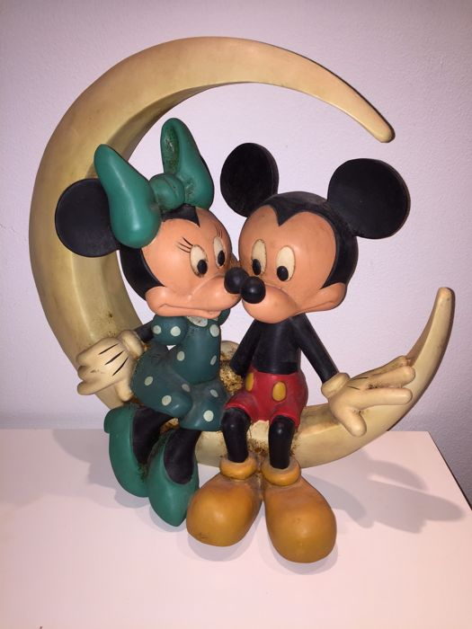 Disney Walt Beeld Mickey Mouse En Minnie Mouse Op De Maan