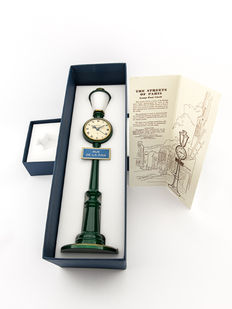 "Jaeger-LeCoultre table clock with 8-days movement – Lantern ""Rue de la paix"" with box – 1960s"