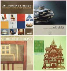 Literature : 4 books on Belgian Art Nouveau & Art Deco